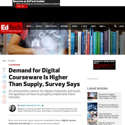 Demand for Digital Courseware Is Higher Than Supply, Survey Says