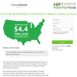 Demand a Fossil Free Retirement
