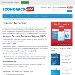 Demand for labour