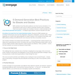 5 Demand Generation Best Practices for E-Books and Guides