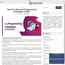 Top 10 In-Demand Programming Languages in 2021