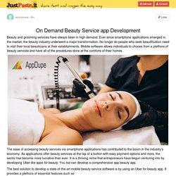 On Demand Beauty Service app Development
