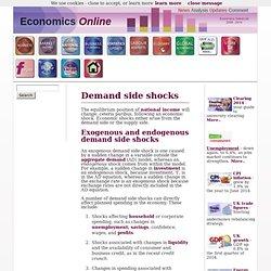 Demand shocks