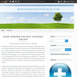 Huge Demand For Buy Syringes Online