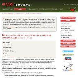 CSS3 : @font-face, vous avez demandé une police de caractère non standard ?