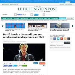 David Bowie a demandé que ses cendres soient dispersées sur Bali