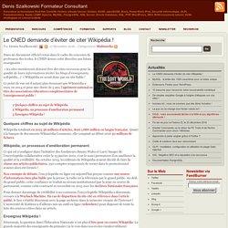 Le CNED demande d'éviter de citer Wikipédia !