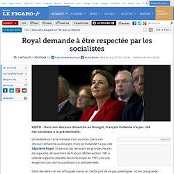 Politique : Royal demande à être respectée par les socialistes