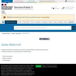 Service en ligne acte etat-civil.fr