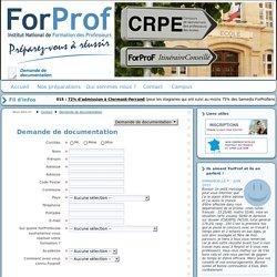 Demander votre documentation ForProf pour le CRPE