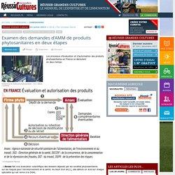REUSSIR CULTURES 03/07/14 INFOGRAPHIE : Examen des demandes d'AMM de produits phytosanitaires en deux étapes