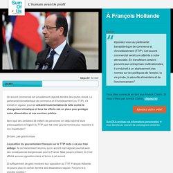 Demandez à François Hollande de s'opposer au TTIP