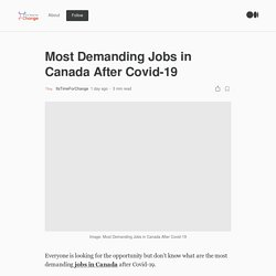 Most Demanding Jobs in Canada After Covid-19
