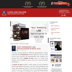 Most Demanding Law Specialization in India 2020