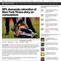 NFL demands retraction of New York Times story on concussions