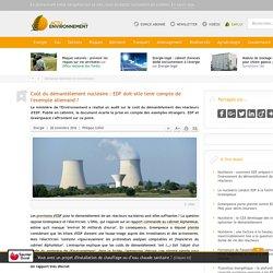 Coût du démantèlement nucléaire: EDF doit-elle tenir compte de l'exemple allemand?