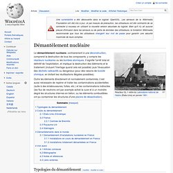 Démantèlement nucléaire