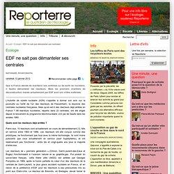 EDF ne sait pas démanteler ses centrales