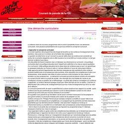 Une démarche curriculaire - Unité Action FSU