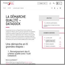 La démarche qualité - Datadock - Fongecif Île-de-France