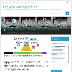 Démarche de recherche et de veille – Esp@ce Doc Aquitaine