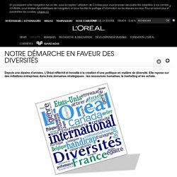 Notre démarche en faveur des diversités, charte de la Diversité