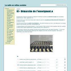01- Démarche de l'enseignant.e - La radio en milieu scolaire