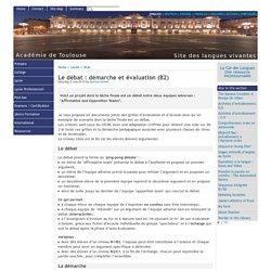 Le débat : démarche et évaluation (B2) - [English website of the Académie de Toulouse]