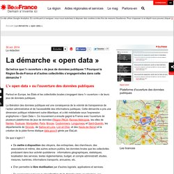 La démarche « open data »
