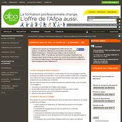 Démarche qualité avec la Charte de l'alternance + PRO