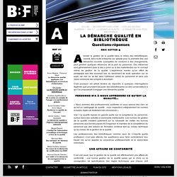 La démarche qualité en bibliothèque - BBF