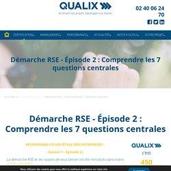 Démarche RSE : focus sur les 7 questions centrales
