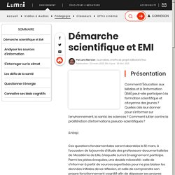 Enseignement - Démarche scientifique et EMI