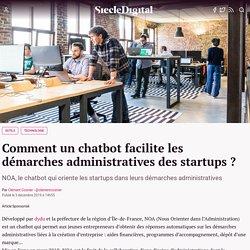 Comment un chatbot facilite les démarches administratives des startups ?