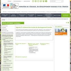 Agenda 21 et démarches locales de développement durable