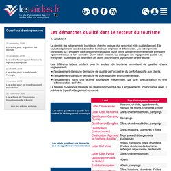 Les démarches qualité dans le secteur du tourisme - Les-aides.fr