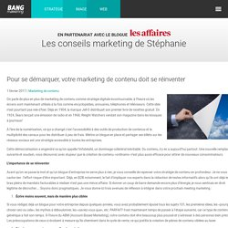 Pour se démarquer, votre marketing de contenu doit se réinventer - Bang Marketing