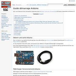 Guide démarrage Arduino