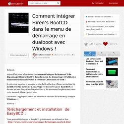 Comment intégrer Hiren's BootCD dans le menu de démarrage en dualboot avec Windows