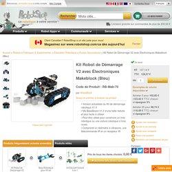 Kit Robot de Démarrage V2 avec Électroniques Makeblock (Bleu)
