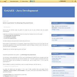 Qu'est ce que Scrum ? Le démarrage d'un projet Scrum - GetJ2ee -Java development