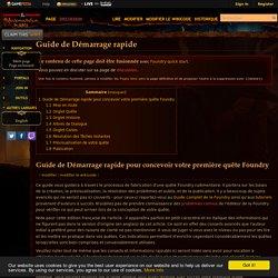 Guide de Démarrage rapide - Official Neverwinter Wiki