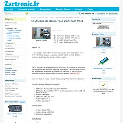 KIT Atelier (Workshop) de démarrage Zartronic V3 [E4N1P002] - 40,00€ : , Zartronic : Votre source Arduino en France