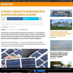 La France a démarré la construction de la première route solaire au monde