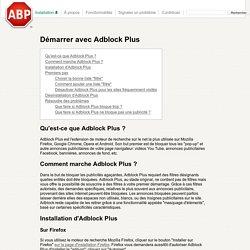 Démarrer avec Adblock Plus