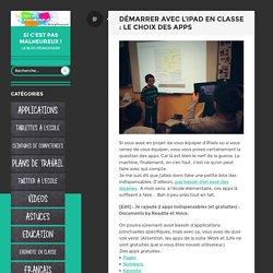 Démarrer avec l'iPad en classe : le choix des apps