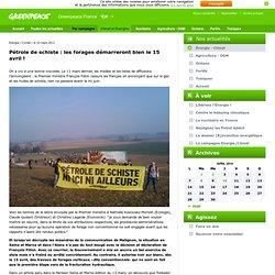 Pétrole de schiste : les forages démarreront bien le 15 avril