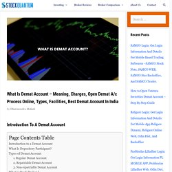 What Is Demat Account? - 2020 - Meaning, How to Open, Types