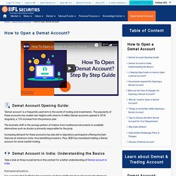 How to Open a Demat Account Online - India Infoline