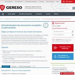 Formation Dématérialisation des documents comptables et administratifs
